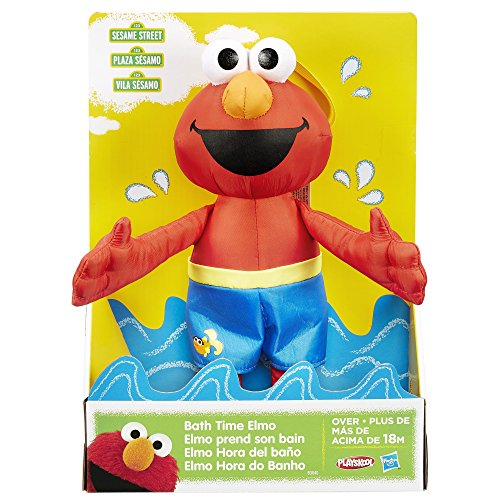Sesame Street Bath Time Elmo: Elmo Bath Time Toy for Toddlers, Cute Swim Trunks Outfit, Soft and Washable, Toy for 18 Month Olds and Up by Sesame Street (Image #1)