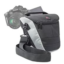 Black Water Resistant Nylon Protective Carry Case for Panasonic Lumix DMC-FZ 48 EF-K, DMC-FZ70, DMC-FZ72EB-K, DMC-G5HEB-K, DMC-G5, DMC-G10, DMC-GF3, DMC-GF5, DMC-GF5KEB-K, G Compact System Camera with Interchangeable Lens, G1 Digital SLR Camera, DMC-LZ30E-K, DMC-LZ30E-R, DMC-FZ1000 – by DURAGADGET