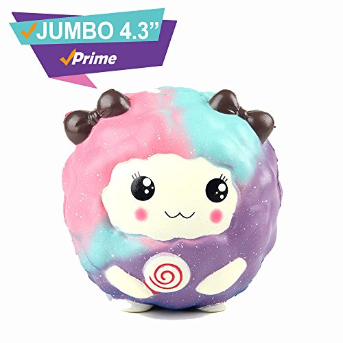 Galaxy Retail Pack (Large Squishes Slow Rising Prime |Kawaii Cute Toys| Jumbo Scented Alpaca Unicorn Galaxy Rare Sheep Strawberry Cake Cat Panda Food Peach|Package Random Set |Koala Stress Release (Galaxy Sheep))