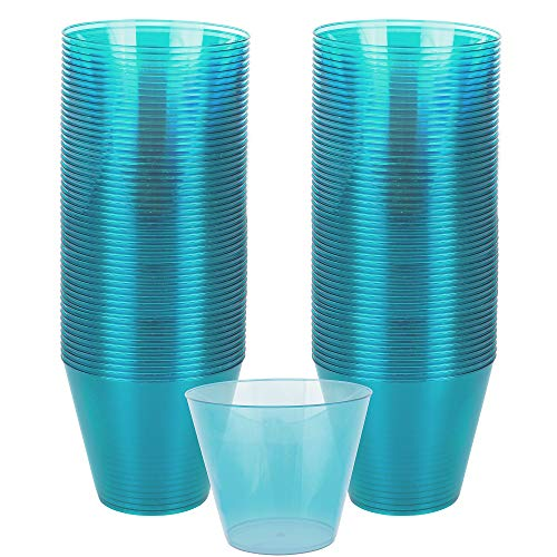 Amscan 350366.54 Disposable BPP Plastic Cup, One Size, Blue