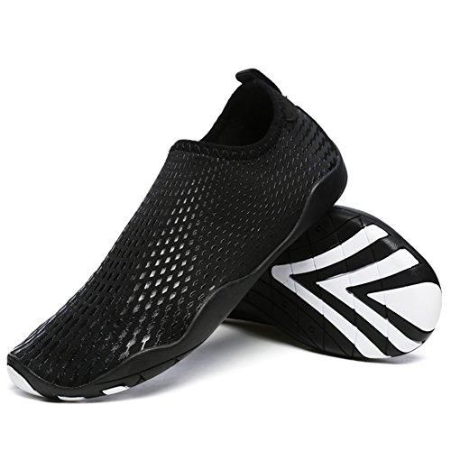 Plage Plongée Les Unisexe d'eau Et xie pour black Séchage Rapide Respirants Femmes Sports pour Hommes Tous Chaussures Nager P5qwU
