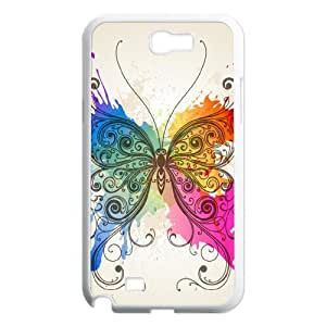 Butterfly High Quality Phone Case for Samsung Galaxy Note 2 N7100, Top Quality Butterfly Cover Case