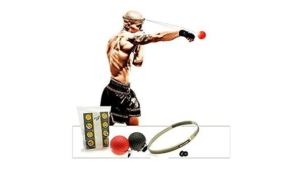 Desconocido FR Balón de boxeo reflexa: Amazon.es: Deportes y aire ...