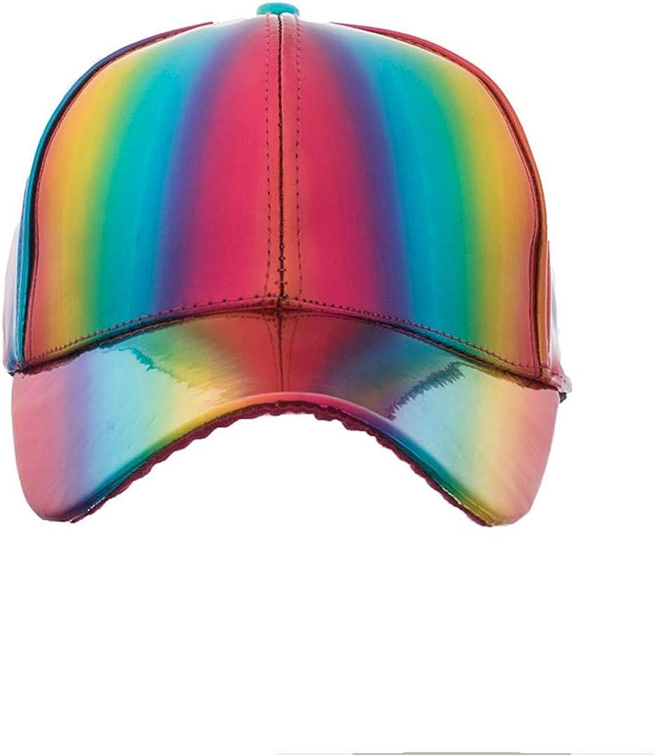 BAIELFES Shining Pu Baseball Cap Unisex Snapback Hats Adjustable Caps