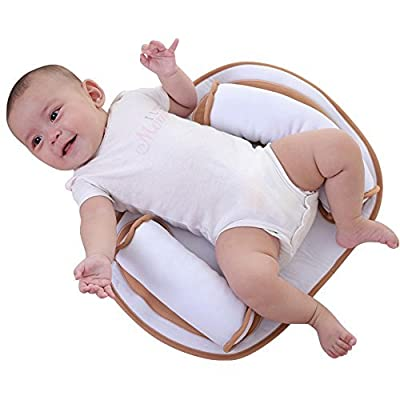 Ginkago Baby Bed Mattress Protector Portable Sleep Pillow Positioner Infant Body Support Crib Bumper Nursing Pillow Anti Roll Sleeping Cushion for Newborn