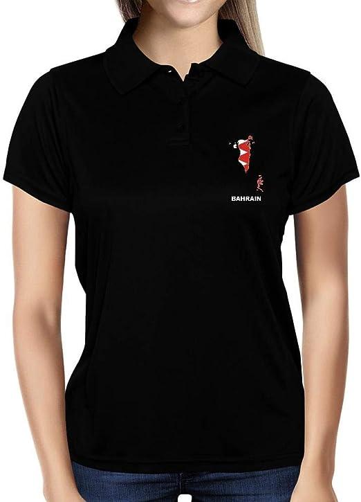 Idakoos Bahrain Country Map Color Polo Camisa Mujer S: Amazon.es: Ropa y accesorios