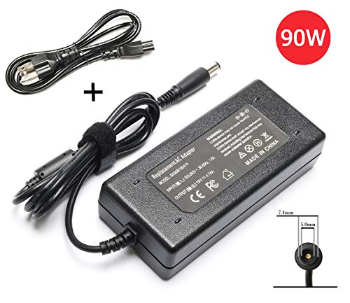 90W Laptop Adapter Charger for HP Pavilion Dv4 Dv6 Dv7 G50 G60 G60T G61 G62 G72 2000; Presario 2210B 2510P CQ40 CQ45 Cq50 Cq57 Cq58 Cq60 Cq61 Cq62 Power Supply Cord (Power Cord Hp Dv6)