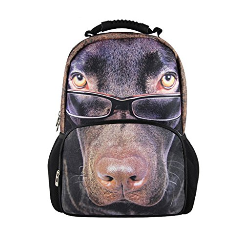 Showudesigns Fashionable Chocolate Lab Luggage Backpacks for Men Women with Front -