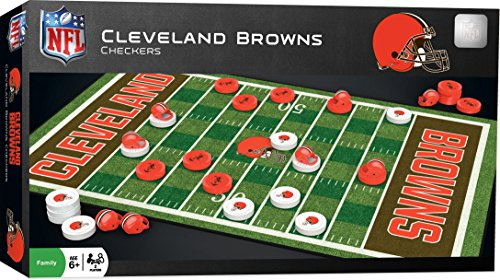 MasterPieces NFL Cleveland Browns Checkers Game