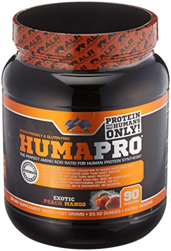 ALR Industries Humapro,  Protein Matrix Formulated for Humans, Waste Less. Gain Lean Muscle, Exotic Peach Mango - 667 grams(23.52 oz) (Acids Amino Predigested)