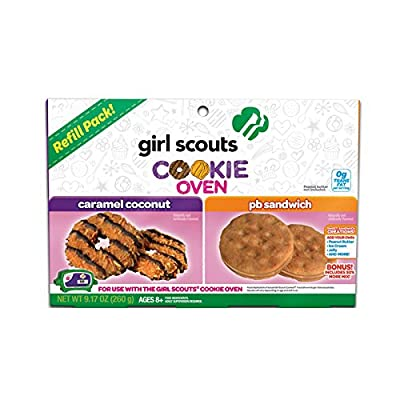 Girl Scout Cookie Oven Deluxe Refill Kit Caramel Coconut and Peanut Butter Sandwich: Toys & Games