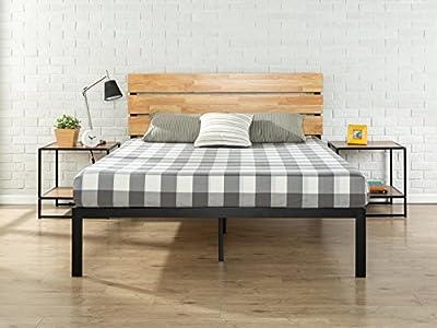 Zinus Sonoma Metal & Wood Platform Bed with Wood Slat Support