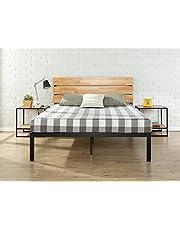 Zinus Sonoma Metal & Wood Platform Bed with Wood Slat Support,