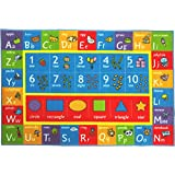 """KC Cubs Kev & Cooper Playtime Collection ABC, Numbers and Shapes Educational Area Rug - 3'3"""" x 4'7"""""""