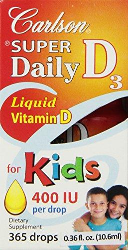 Carlson Super Daily D3 400 IU for Kids, 10.6 ml