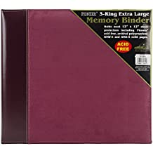 Pioneer Photo Albums 12 x 12-Inch 3-Ring Faux Suede Cover Scrapbook Binder, Burgundy