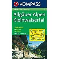 Allgäuer Alpen, Kleinwalsertal: Wandern / Rad / Skitouren. Mit Panorama. GPS-genau