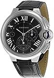 Cartier W6920052 Ballon Bleu Black Dial and Leather Strap Chronograph Automatic Men's Watch