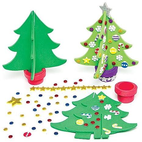 Crea Foto Di Natale.Kit Alberi Di Natale 3d In Gommapiuma Per Bambini Da Creare
