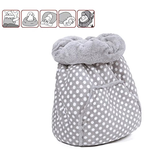 Cat Sleeping Bed (PAWZ Road Pet Magic Sleeping Bag Ultra Soft Dog Cat Bed Mat Blanket Suitable for Pet Stroller)