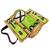 Picnic Wine Basket (Set of 10) 13 x 9 x 9 in