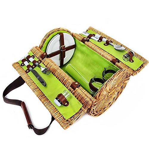 Picnic Wine Basket (Set of 10) 13 x 9 x 9 in