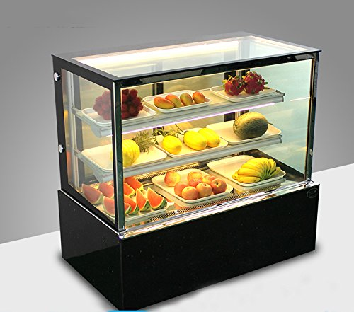 (Commercial Countertop Refrigerated Cake Showcase Right Angle Bakery Cabinet Cooling Display Case with LED Light (Item#210080))