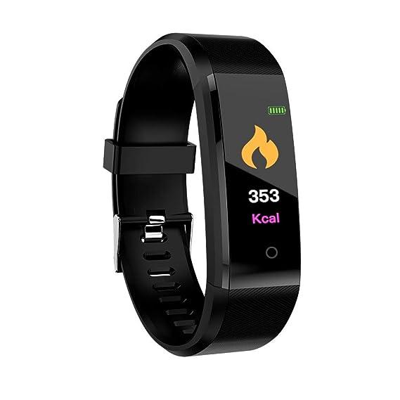 Brazalete de Fitness Tracker Tensiómetro Pulsómetro Mujer Hombres Smart Watch Adecuado para PK: Amazon.es: Deportes y aire libre