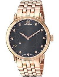 Women's 'Double 8 Origin' Swiss Quartz Stainless Steel Dress Watch, Color:Rose Gold-Toned (Model: 87WA153516)