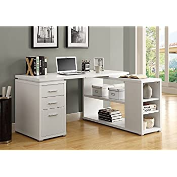 amazon com monarch specialties hollow core left or right facing rh amazon com white corner desk with drawers uk white corner desk with hutch and drawers