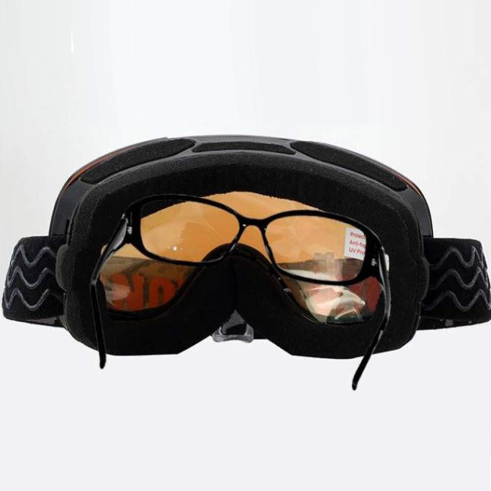 YSH Skibrille, Geeignet Für Männer Und Frauen Frauen Frauen Großes Sichtfeld, Rahmen Rahmenlos, Doppelte Anti-Fog- Und UV-Besteändige Gläser, Weicher Rahmen,J B07L55R8BF Skibrillen Zart 67725c