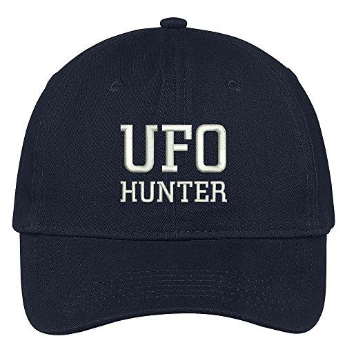 - Trendy Apparel Shop UFO Hunter Embroidered Dad Hat Adjustable Cotton Baseball Cap - Navy