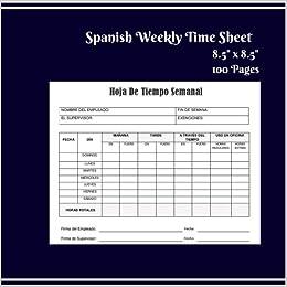 spanish weekly time sheet spanish employee weekly time sheet size