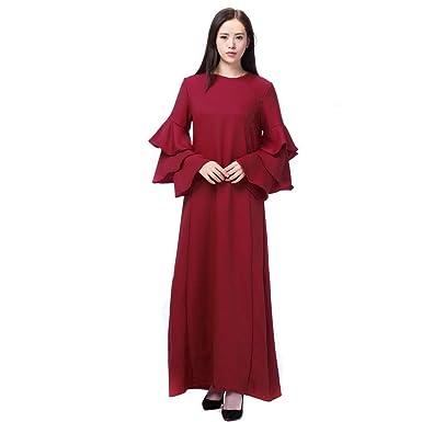 Señoras Musulmanas Robe Ropa Abaya Islámica Árabe Kaftan Dubai ...