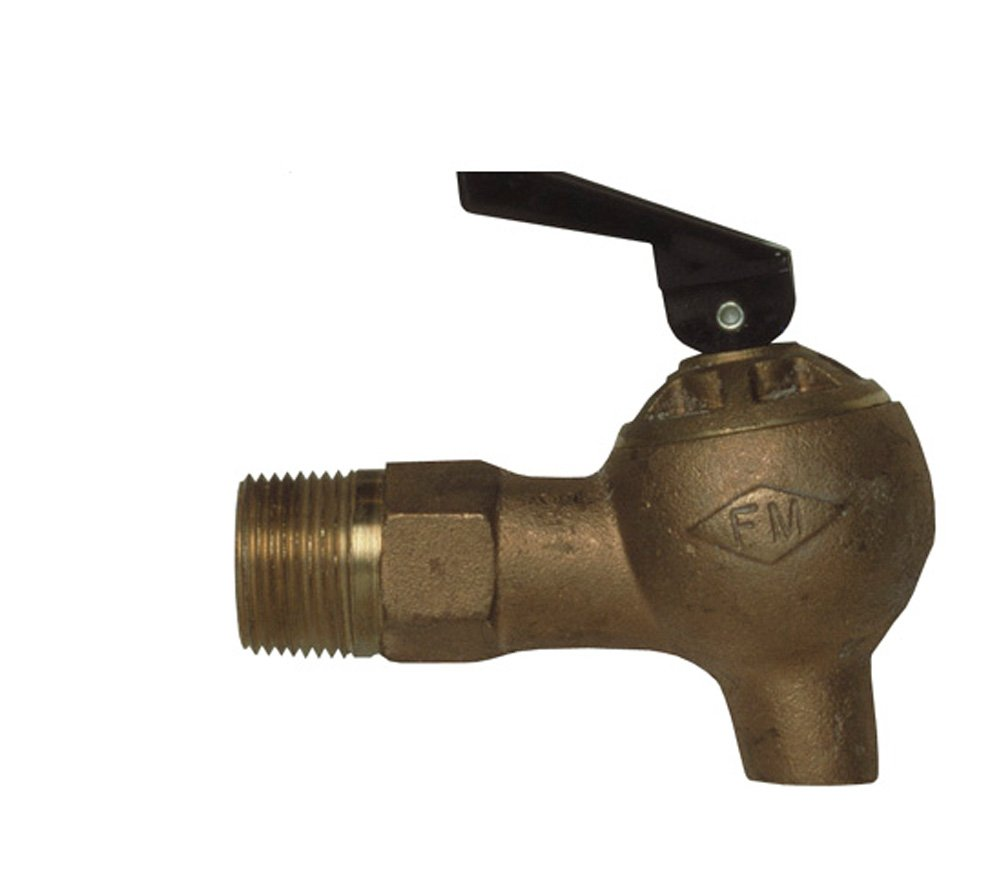 Justrite 08540 .75'' NPT Thread, 4.0'' L x 3.75'' H Brass Control Flow Lab Safety Faucet