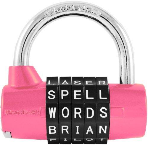 Wordlock Combination Padlock – 5 Dial, (Locker Pad)
