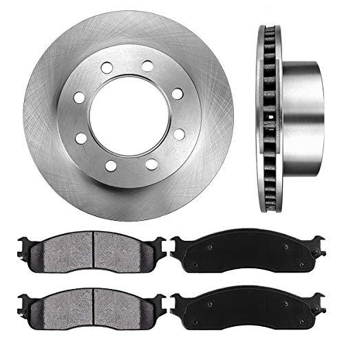 FRONT 353 mm Premium OE 8 Lug [2] Brake Disc Rotors + [4] Metallic Brake Pads