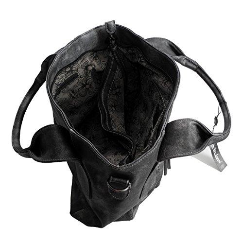 Jennifer Jones - Bolso cruzados para mujer, negro metalizado (negro) - 0 negro metalizado