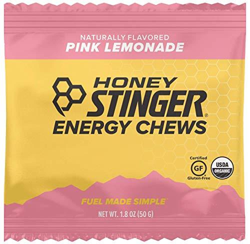 Honey Stinger Organic Energy Chews, Pink Lemonade, Sports Nutrition, 1.8 Ounce (Pack of 12)