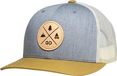 Lindo Trucker Hat - Go Outdoors (Heather Gray/Birch/Gold)