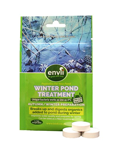 Sludge Buster (Envii Winter Pond Treatment – Winter Pond Enzymes Sludge and Algae Remover Pond Bacteria Treatment Works as Low As 40F (Treats Up To 12,000 Gallons))