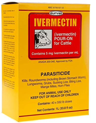 Ivermectin Injection (Durvet Ivermectin Pour-On for Cattle 1000 mL)