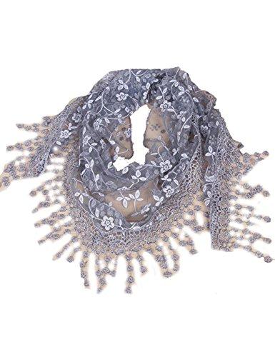 Solid color Fashion Scarf Chiffon Long Hijabs (Grey) - 5