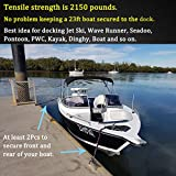 Botepon 2Pcs Boat Dock Line, Bungee Cords for