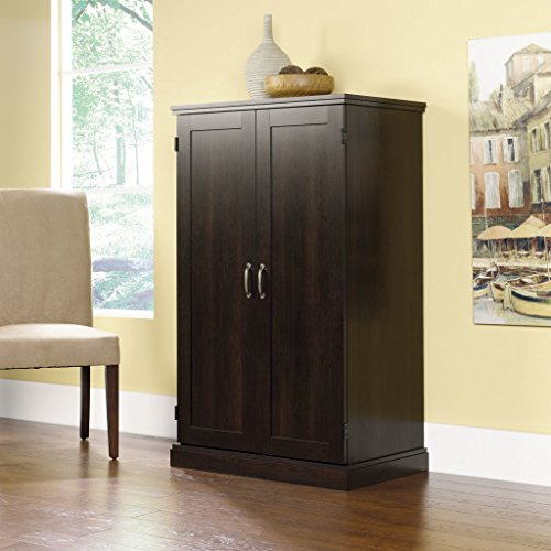 Brown Storage Desk Armoire Computer Workstation Cabinet Home Organizer Office Shelves Closet Bedroom Study Executive (Computer Armoire Cabinet)
