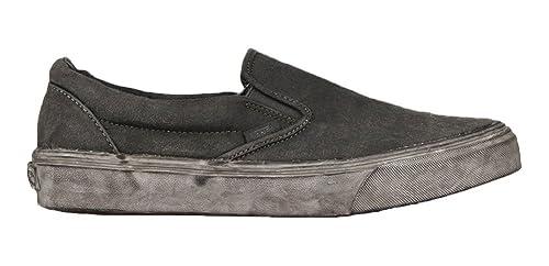 Vans - Classic Slip-on Plus, Zapatillas Unisex Adulto, Negro (overwash Paisley/Black), 37 EU: Amazon.es: Zapatos y complementos