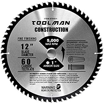 Toolman Circular Saw Blade Universal Fit 12 X1 60t Carbide Tip