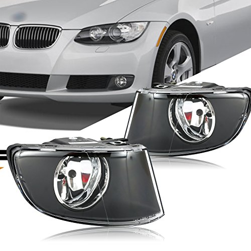 ECCPP Clear Lens Replacement Fog Lights Front Bumper Lamps For 2007-2011 BMW 3 Series Coupe E92 / E93 (Bmw 3 Series Coupe Headlamp)