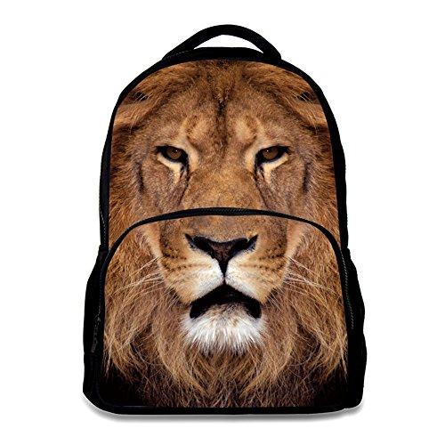 (Animal School Bag Children's Age6-16 Polyester 17 Inch Laptop Backpack (Lion 2) )