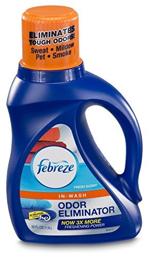 Febreze In-Wash Laundry Odor Eliminator, Fresh Scent, 50 Fluid Ounce (Pack of 1) (Laundry Odor Eliminator)
